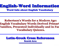 English Word Information
